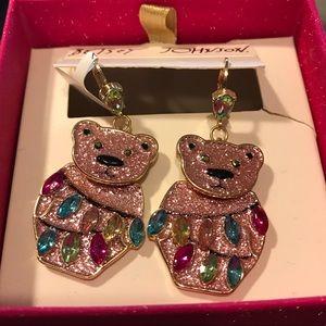 Betsey Johnson holiday bear earrings.